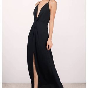 TOBI Black Knotted Maxi Dress NWT